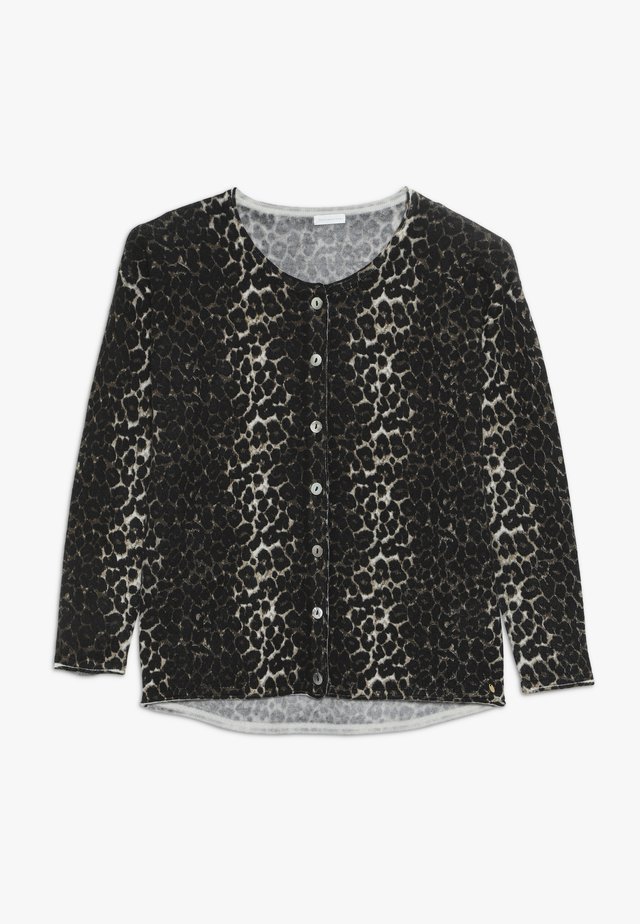 EMILY CARDIGAN LEO  - Strickjacke - black