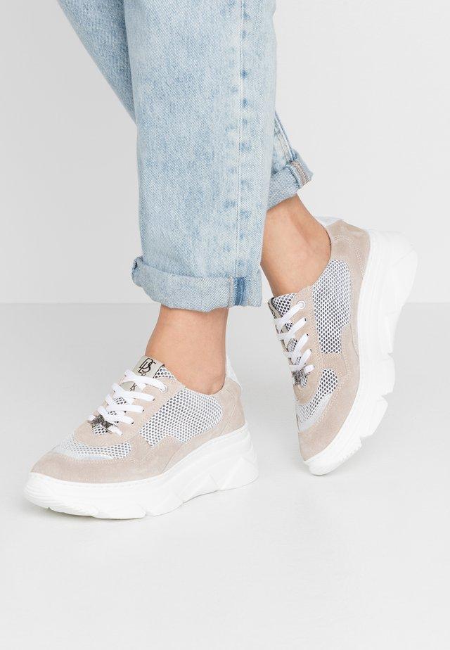 Sneakersy niskie - ivory/glitter bianco