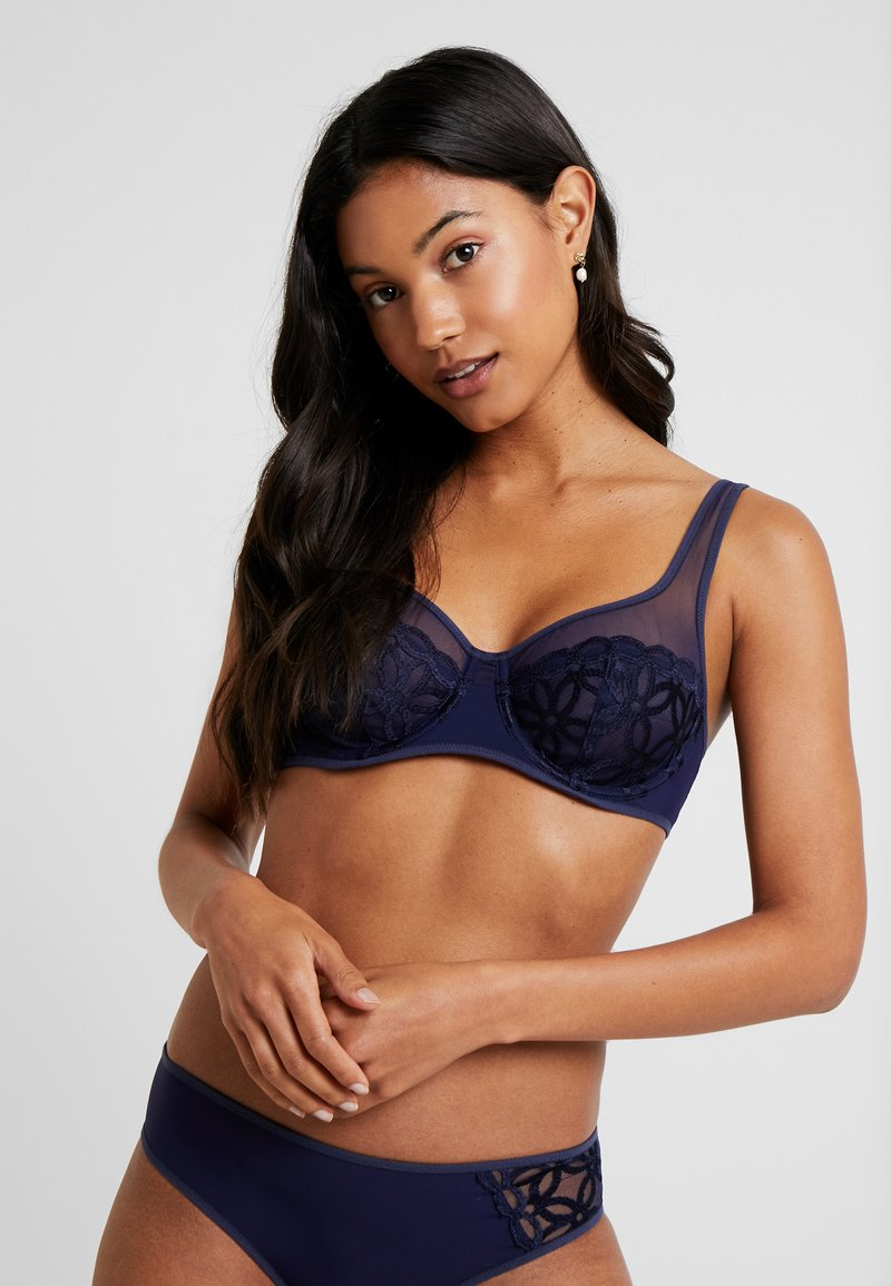 DIM - GENEROUS MOD BRA WITH UNDERWIRE - Bygel-bh - infini blue embroidery