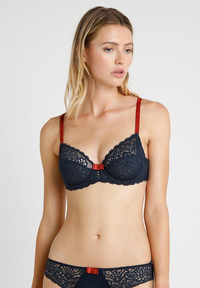 DIM - SUBLIM CLASSIQUE - Kaarituelliset rintaliivit - bleu noir