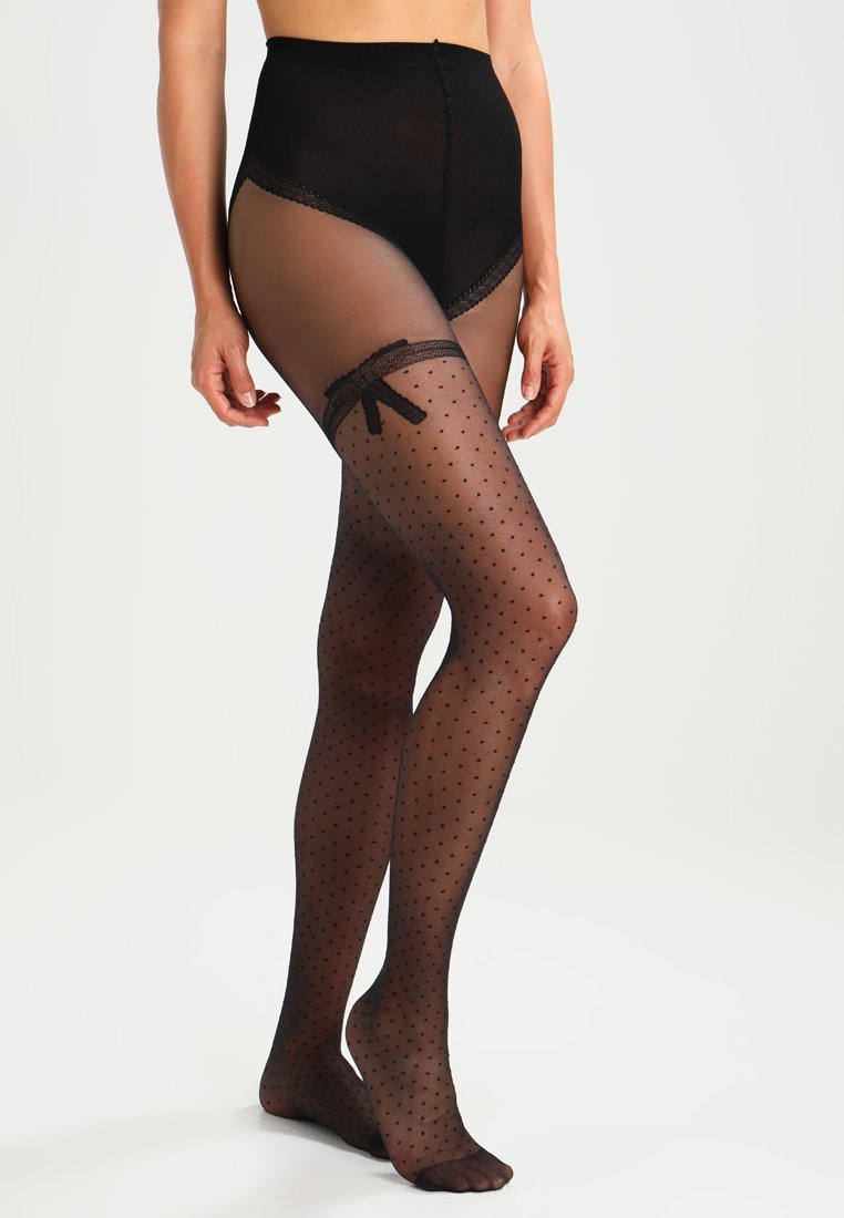 DIM - COLLANT NOEUD DENTELLE - Tights -  noir