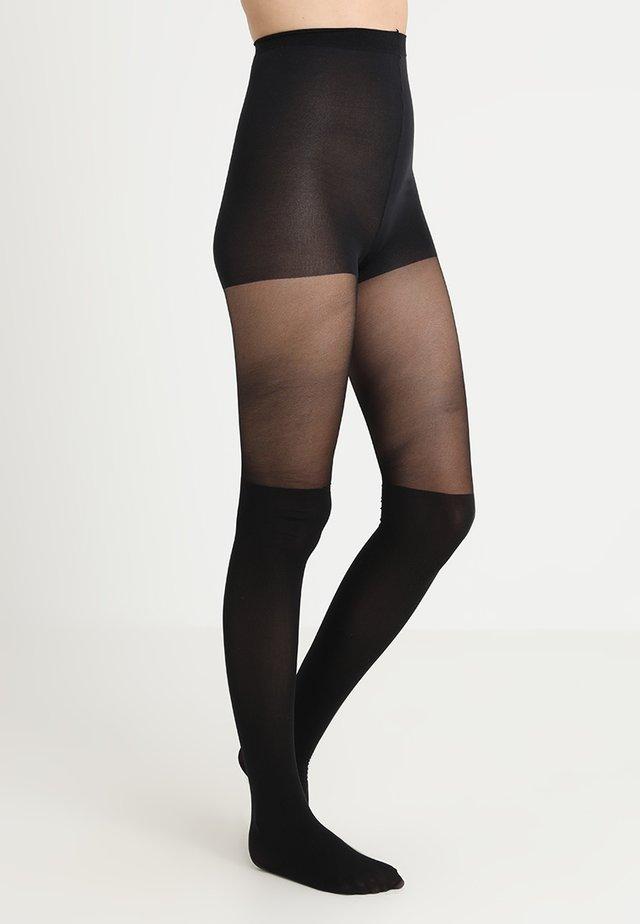 60 DEN EFFET CUISSARDE UNIE - Collants - noir