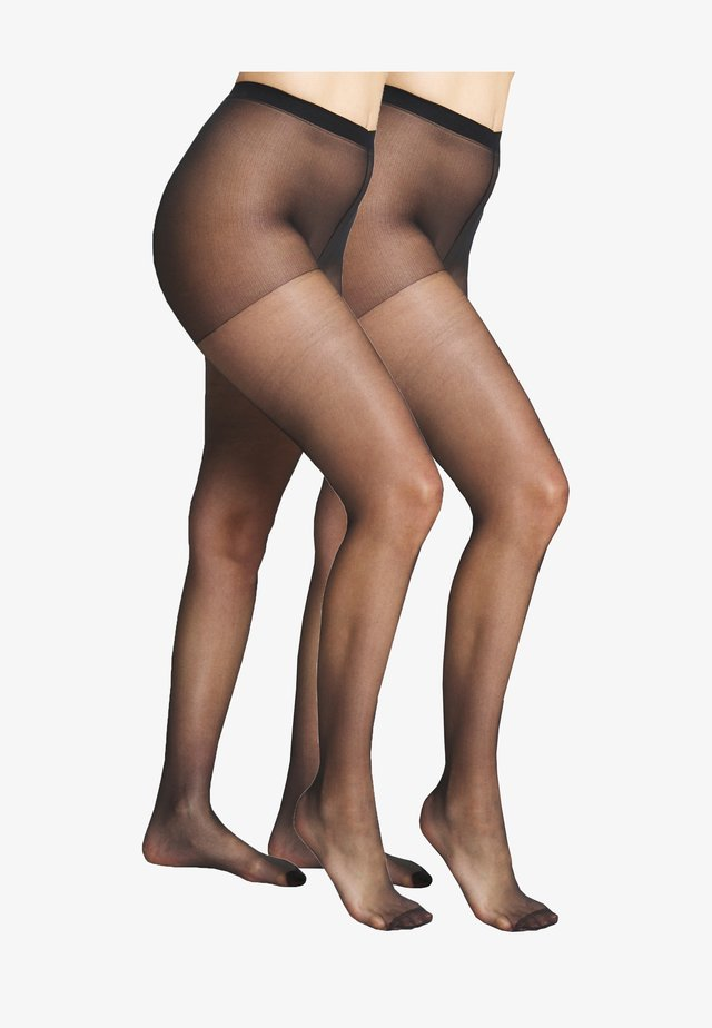 SHEER THIGHS SUBLIM 2 PACK - Strumpfhose - black