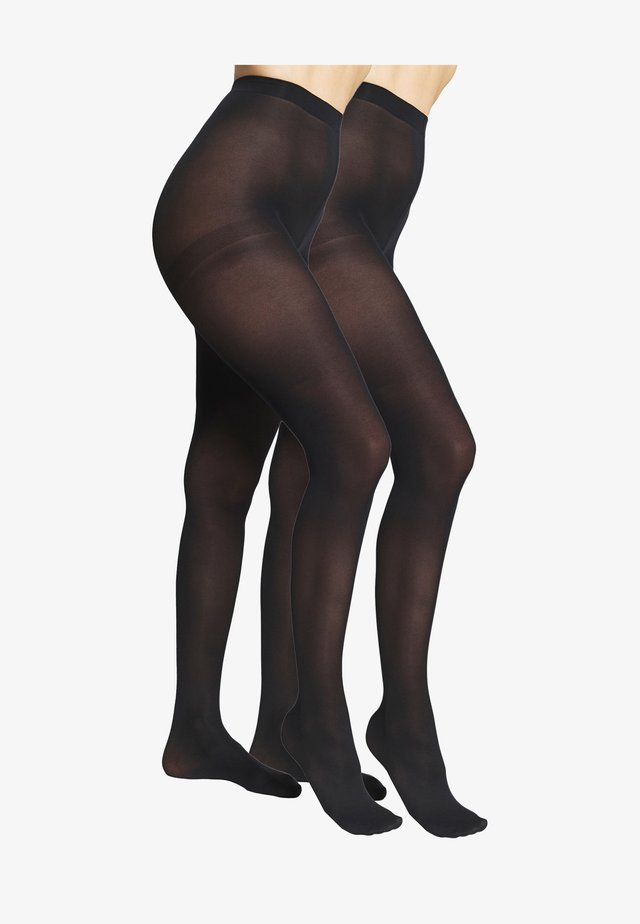 SEMI OPAQUE THIGHS BEAUTY 2 PACK - Tights - black