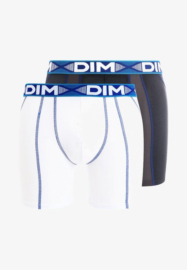 3D FLEX AIR 2 PACK - Shorty - blanc/bleu/gris