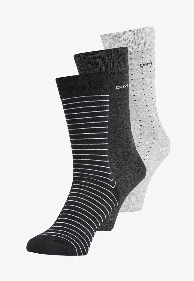 RAYURES ET POIS 3 PACK - Ponožky - lot noir/anthracite/gris clair