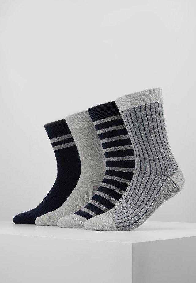 CREW SOCKS ECO DIM STYLE 4 PACK - Ponožky - grey/blue