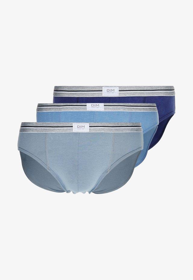 ULTRA RESIST BRIEF 3PACK - Kalhotky/slipy - blue jean/grey/blue denim