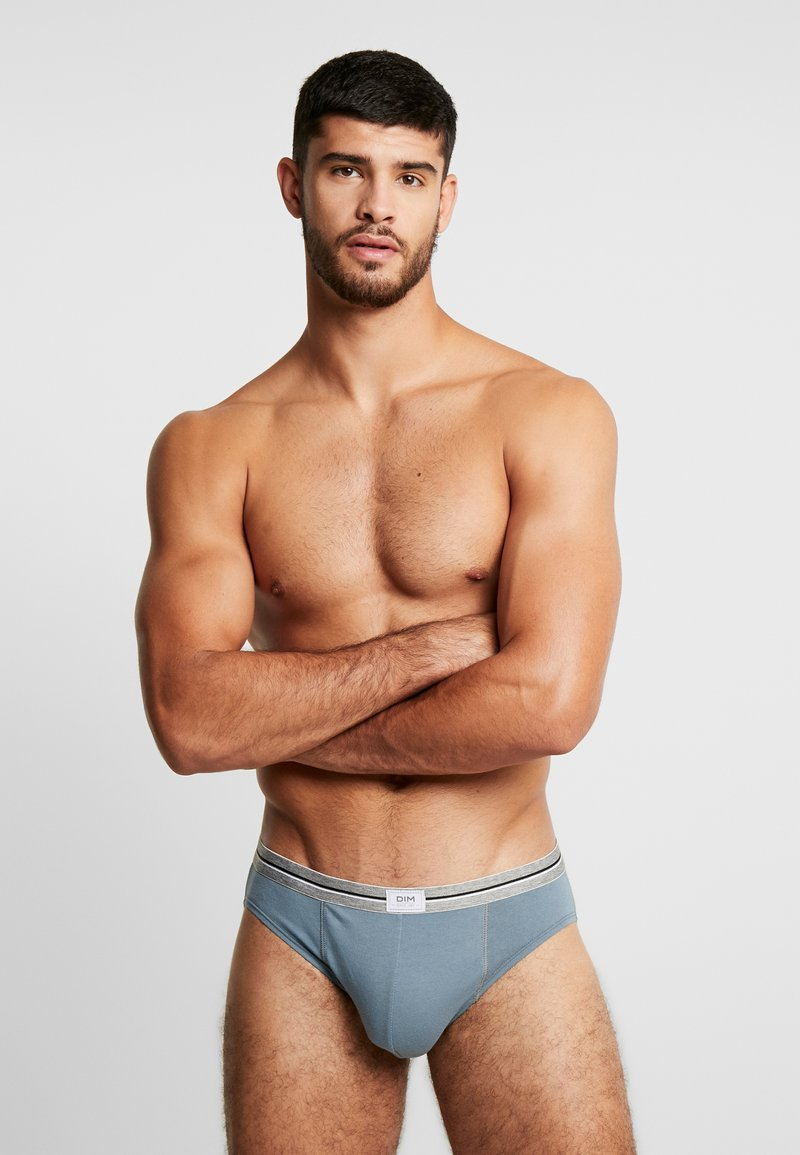 DIM - ULTRA RESIST BRIEF 3PACK - Braguitas - blue jean/grey/blue denim