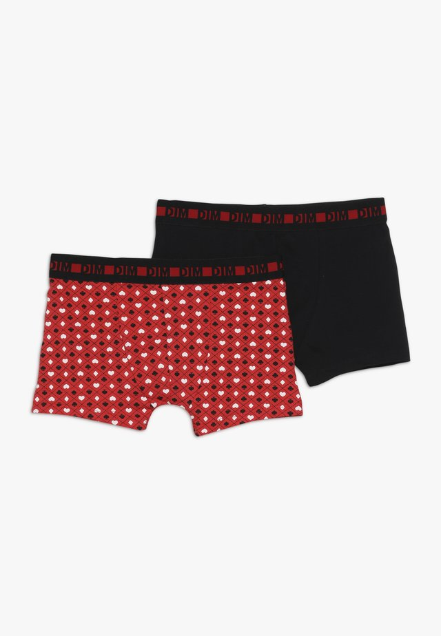 BOXER 2 PACK - Panties - coquelicot