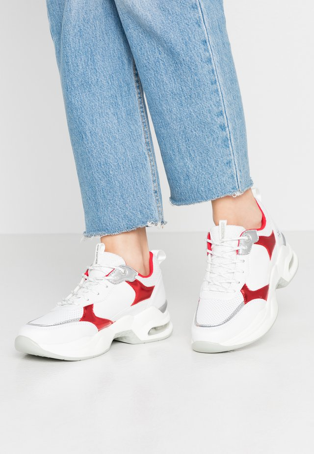 Sneakers laag - weiss/rot