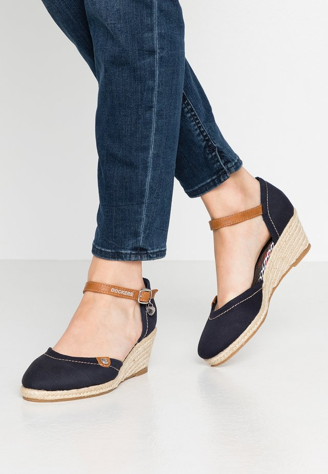 Wedges - navy/rot