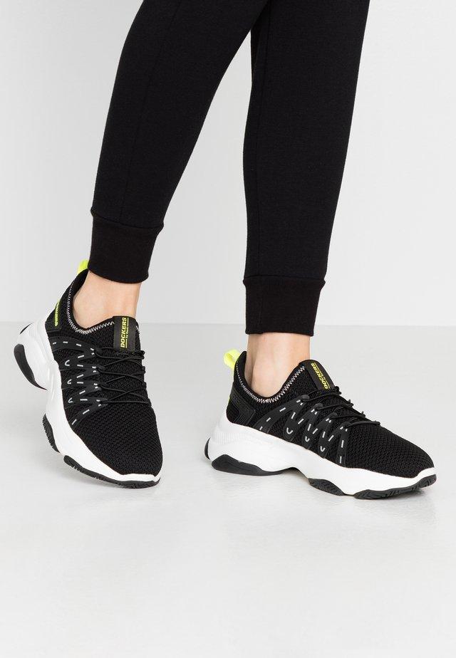 Slippers - schwarz/hellgrün