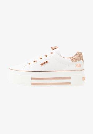 Sneakers laag - weiß/rosegold