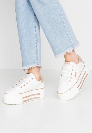 Sneakers basse - weiß/rosegold