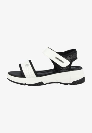 Walking sandals - black/white