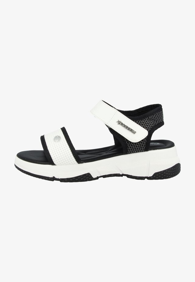 Vandringssandaler - black/white