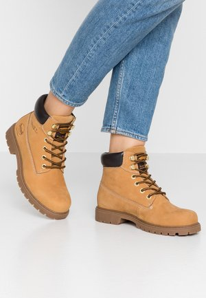 Korte laarzen - golden tan