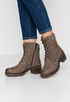 Lace-up ankle boots - schlamm