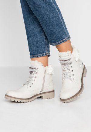 Lace-up ankle boots - ice