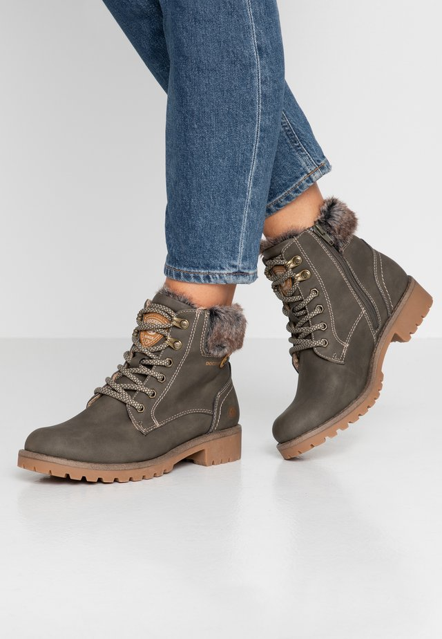 Lace-up ankle boots - bottle