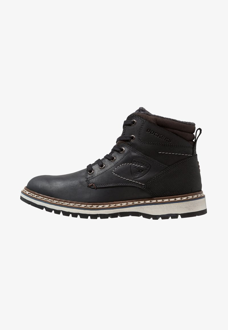 Dockers by Gerli - Lace-up ankle boots - schwarz/schoko