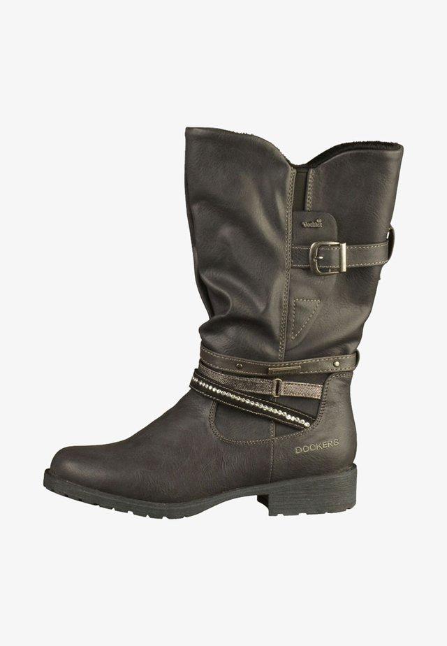 STIEFEL - Cowboy-/Bikerstiefelette - black