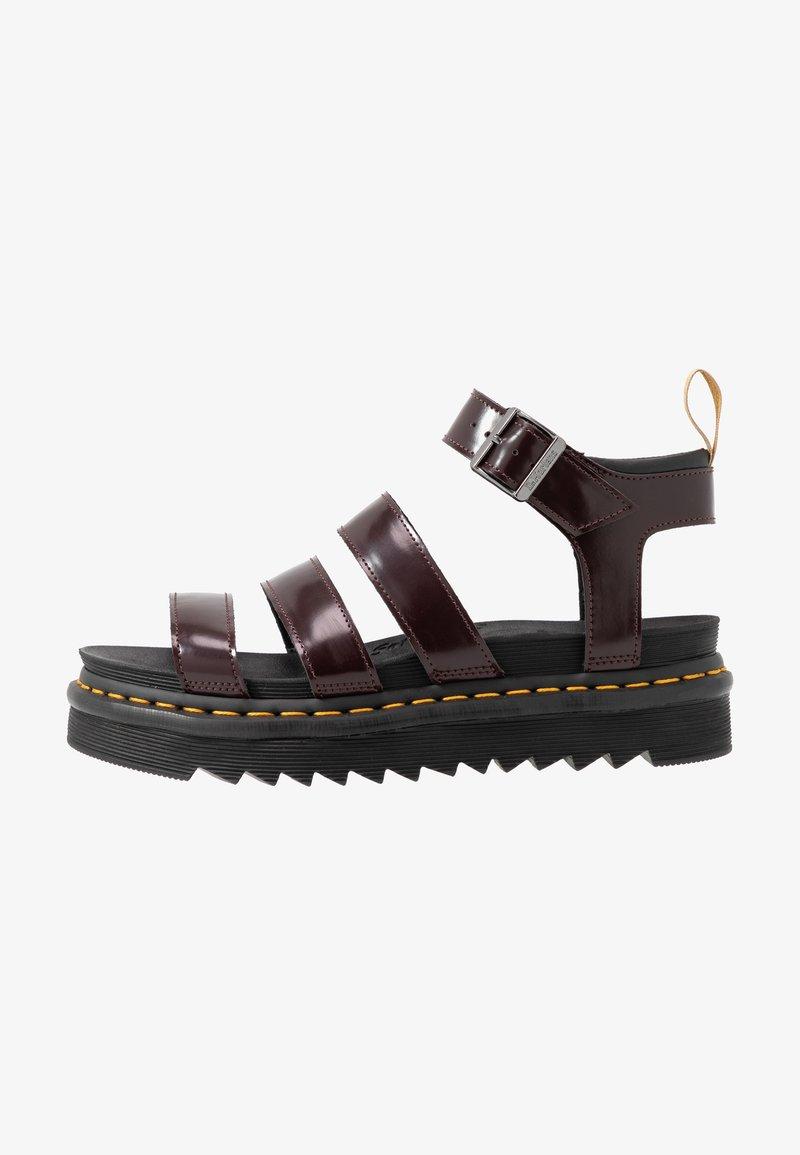 Dr. Martens - BLAIRE - Platform sandals - cherry red oxford