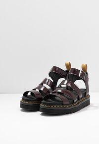 Dr. Martens - BLAIRE - Platform sandals - cherry red oxford - 2