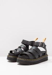 Dr. Martens - BLAIRE - Korkeakorkoiset sandaalit - black felix - 3
