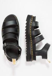 Dr. Martens - BLAIRE - Korkeakorkoiset sandaalit - black felix - 2