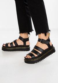 Dr. Martens - BLAIRE - Korkeakorkoiset sandaalit - black felix - 0
