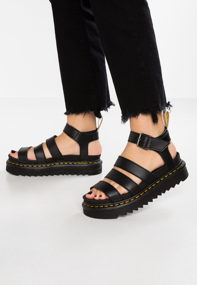 Dr. Martens - BLAIRE - Korkeakorkoiset sandaalit - black felix
