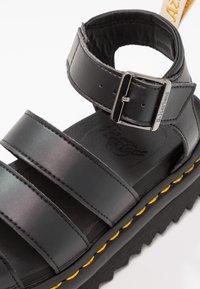 Dr. Martens - BLAIRE - Korkeakorkoiset sandaalit - black felix - 6