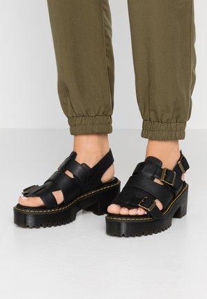 ARIEL - Sandalen met plateauzool - black wyoming