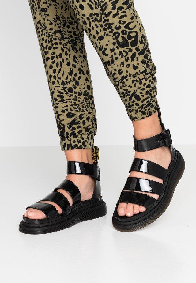 CLARISSA - Sandalen met plateauzool - black