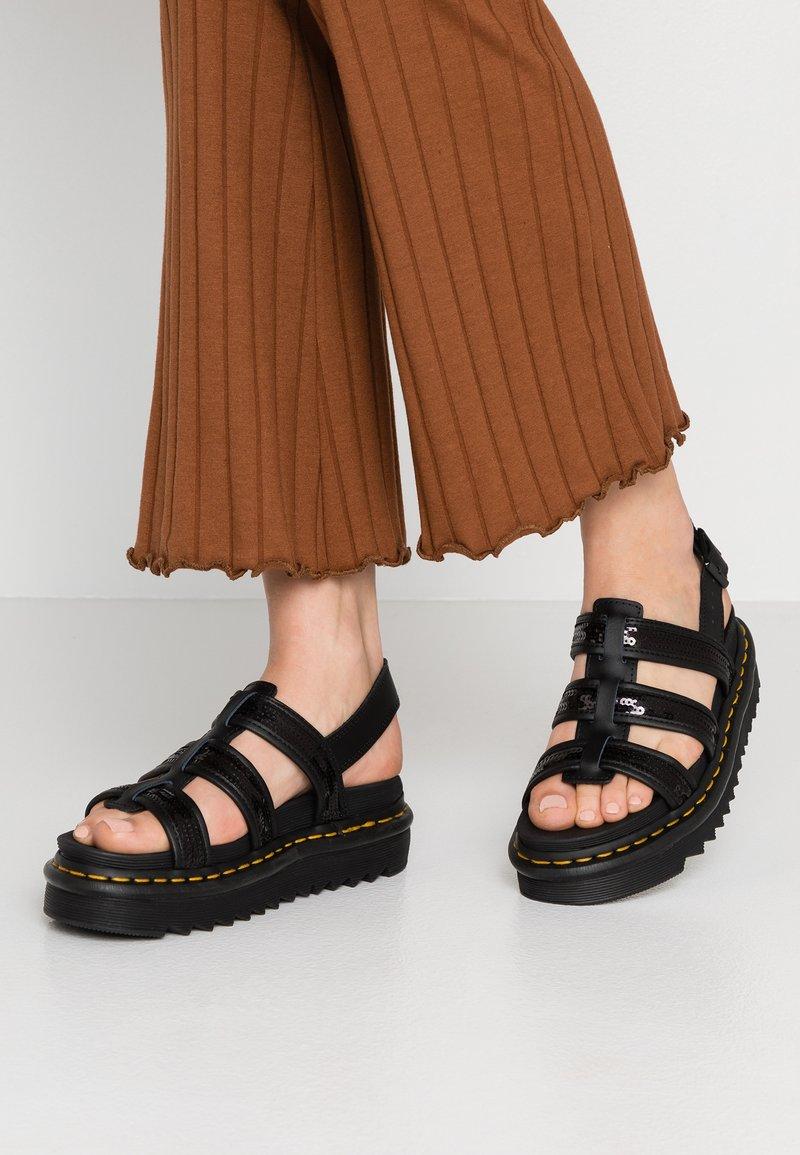 Dr. Martens - YELENA  - Platform sandals - black