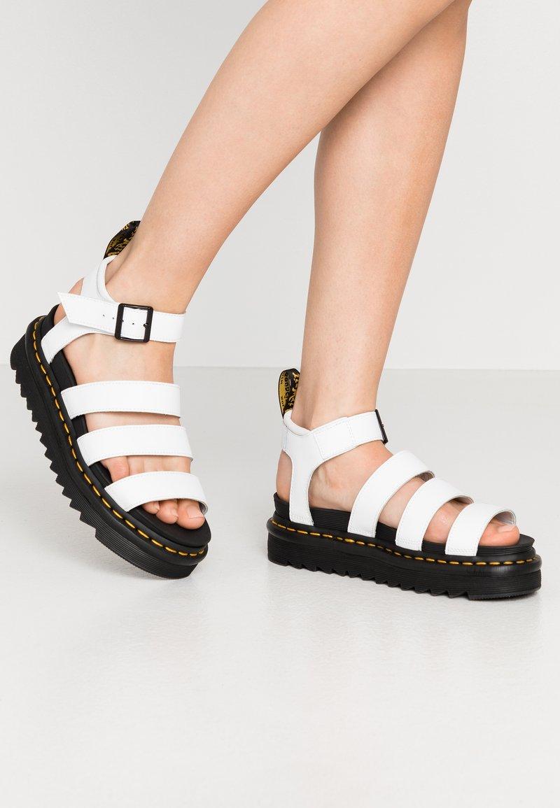 Dr. Martens - BLAIRE - Korkeakorkoiset sandaalit - white hydro