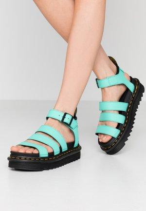 BLAIRE - Platform sandals - peppermint green hydro