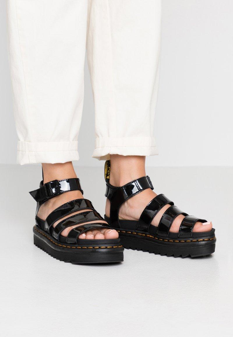 Dr. Martens - BLAIRE - Sandalias con plataforma - black