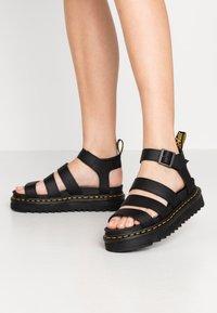 Dr. Martens - BLAIRE - Korkeakorkoiset sandaalit - black - 0