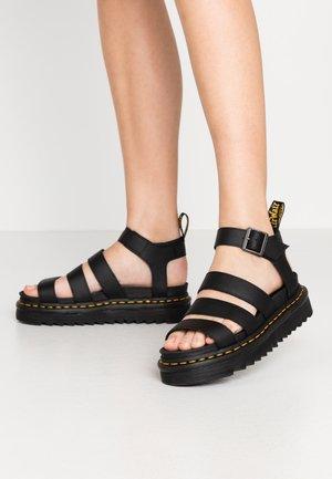 BLAIRE - Korkeakorkoiset sandaalit - black