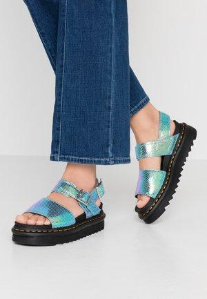 VOSS - Platform sandals - blue iridescent
