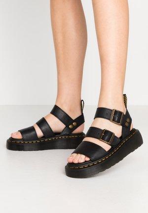 GRYPHON QUAD - Korkeakorkoiset sandaalit - black pisa