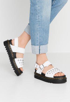 VOSS STUD - Platform sandals - white