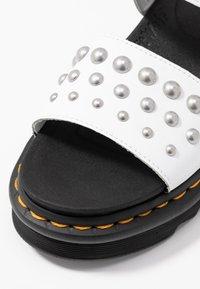 Dr. Martens - VOSS STUD - Platform sandals - white - 2