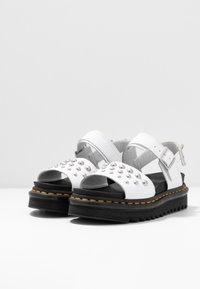 Dr. Martens - VOSS STUD - Platform sandals - white - 4