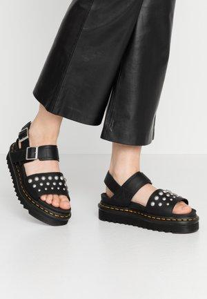 VOSS STUD - Korkeakorkoiset sandaalit - black