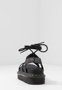 Dr. Martens - NARTILLA  - Platform sandals - gunmetal/iridescent - 5
