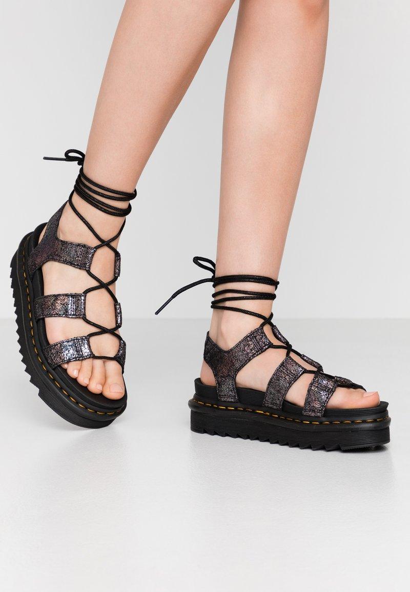 Dr. Martens - NARTILLA  - Platform sandals - gunmetal/iridescent